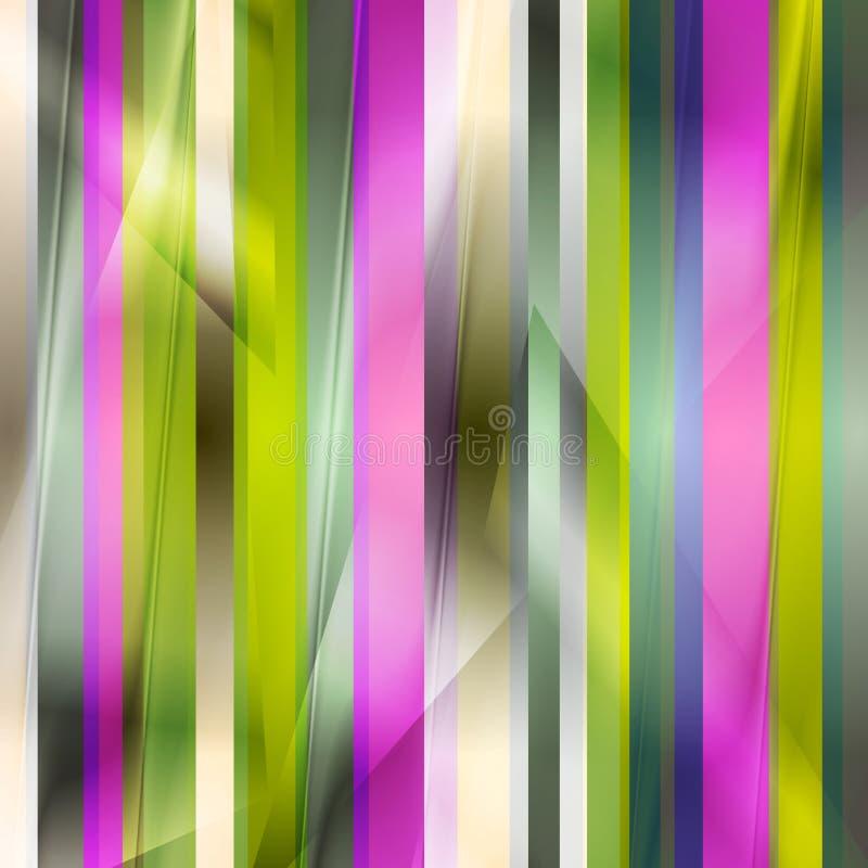Färgrik randig ljus bakgrund stock illustrationer