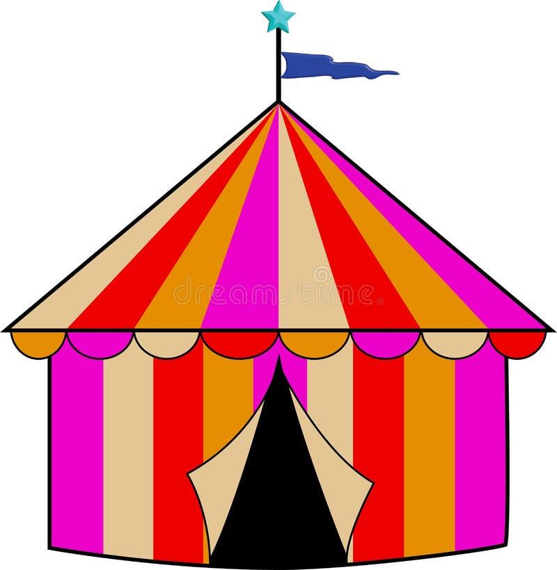 färgrik randig tent för cirkus royaltyfri bild