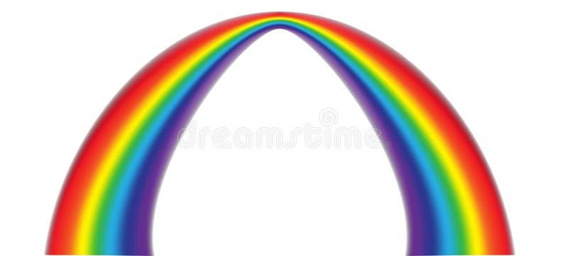 Färgrik realistisk mångfärgad regnbåge Naturligt arcuate fenomen i himlen ocks? vektor f?r coreldrawillustration royaltyfri illustrationer