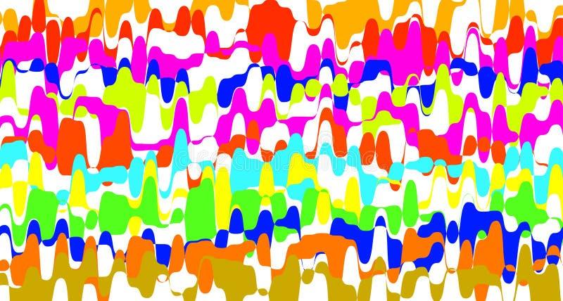 Färgrik regnbåge som göra ett hack i som göras randig för bakgrund, konstlinje färg för formsicksackklotter, tapetslaglän royaltyfri illustrationer