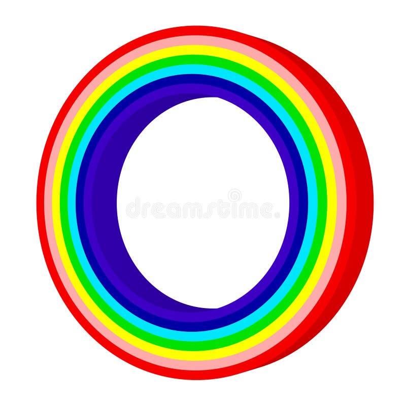 Färgrik regnbåge Textur för modell för cirkelformabstrakt begrepp Mång--färgad lutningbakgrund illustration 3d vektor illustrationer