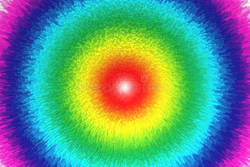 Färgrik regnbågeabstrakt begreppbakgrund, stil för kvarter 3d arkivbild
