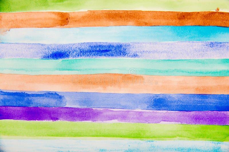 Färgrik remsavattenfärg vektor illustrationer