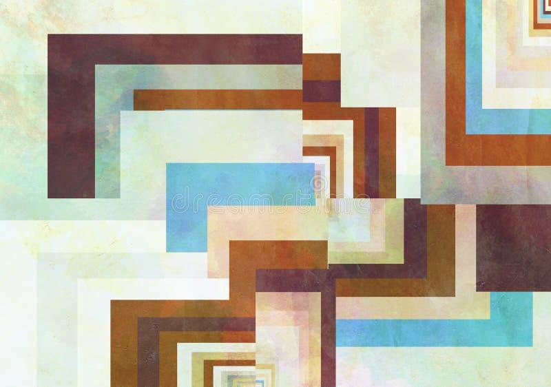 Färgrik Retro pappers- bakgrund med grungeeffekter vektor illustrationer