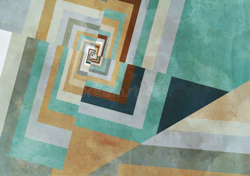 Färgrik Retro pappers- bakgrund med grungeeffekter stock illustrationer