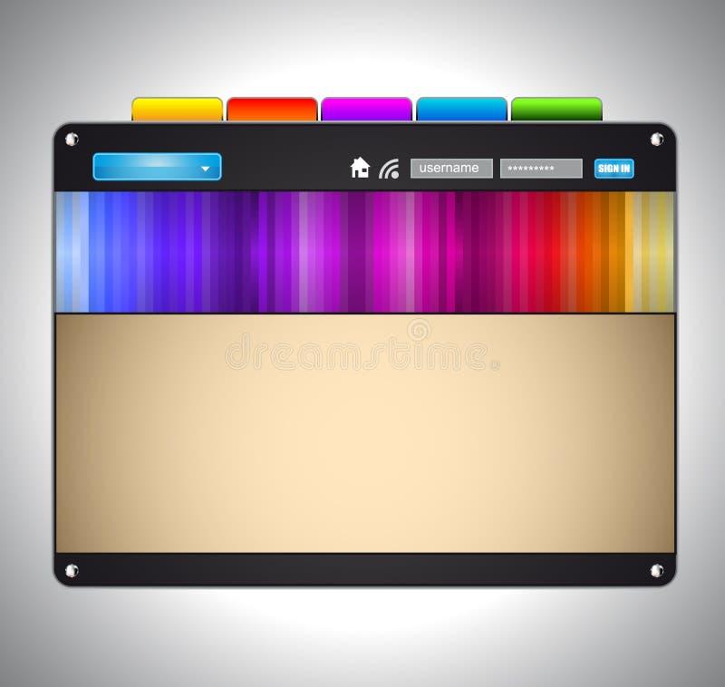 färgrik rtistic mallwebsite vektor illustrationer