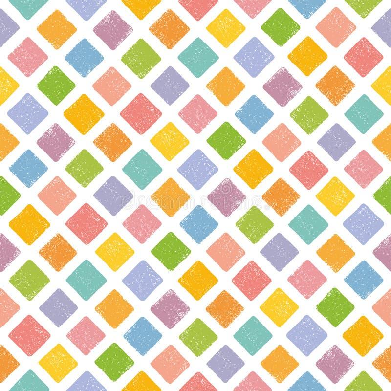 Färgrik sömlös bakgrund med rombformstämpeln vektor illustrationer