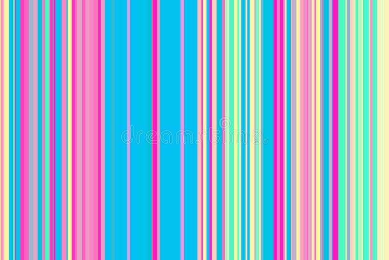 Färgrik sömlös bandmodell Abstrakt regnbågeillustrationbakgrund Stilfulla moderna trendfärger vektor illustrationer