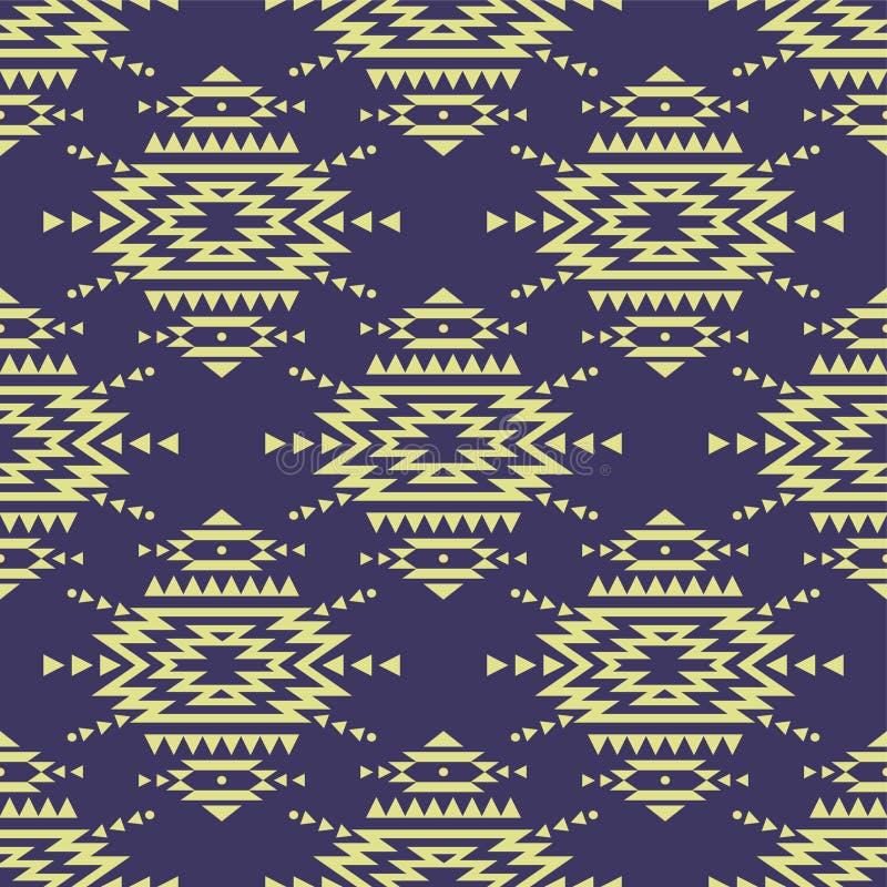 Färgrik sömlös dekorativ etnisk modell för vektor vektor illustrationer