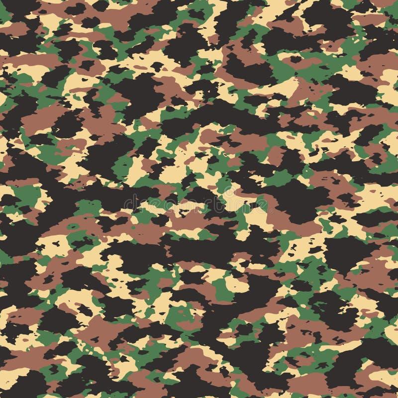 Färgrik sömlös kamouflagemodell för abstrakt vektor stock illustrationer