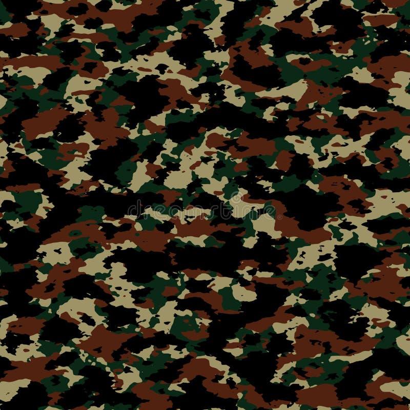 Färgrik sömlös kamouflagemodell för abstrakt vektor royaltyfri illustrationer