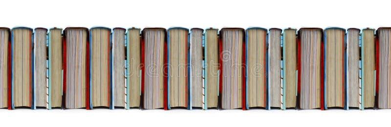Färgrik sömlös modell för böcker i rad vektor illustrationer
