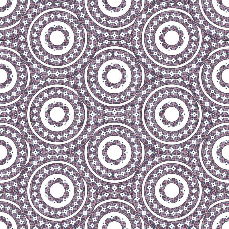 Färgrik sömlös vektormodell royaltyfri illustrationer