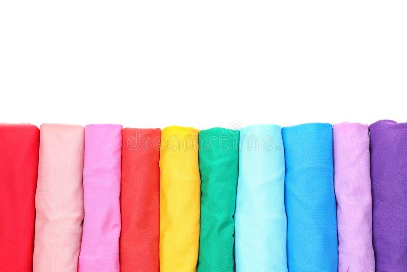 Färgrik samling av t-skjortor fotografering för bildbyråer