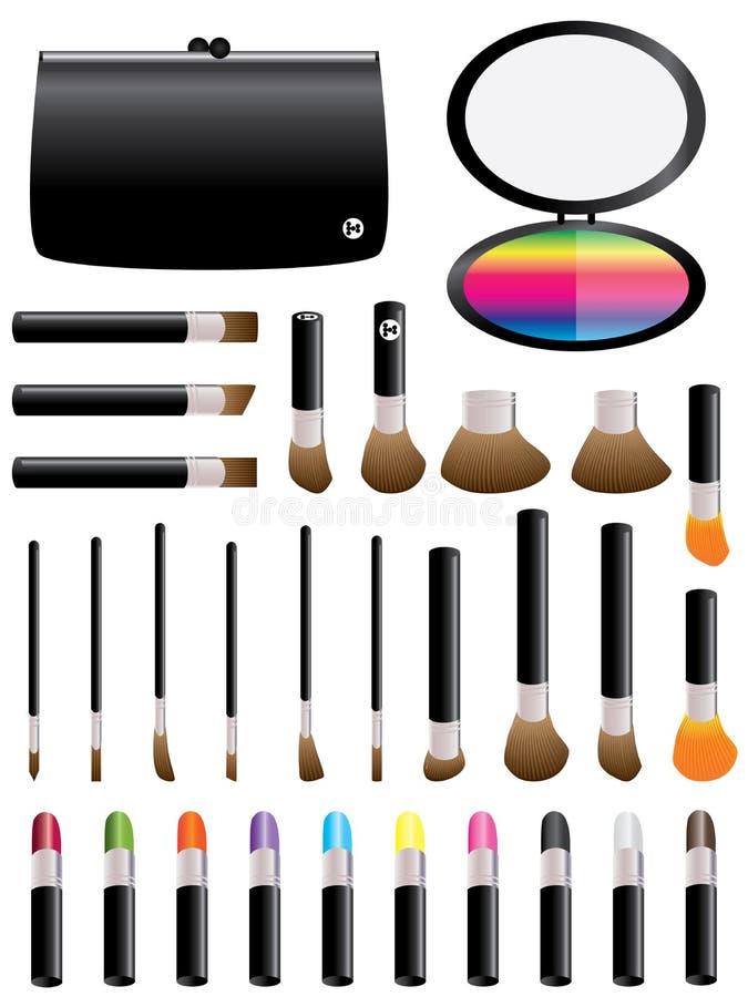 Färgrik Set för Makeup stock illustrationer