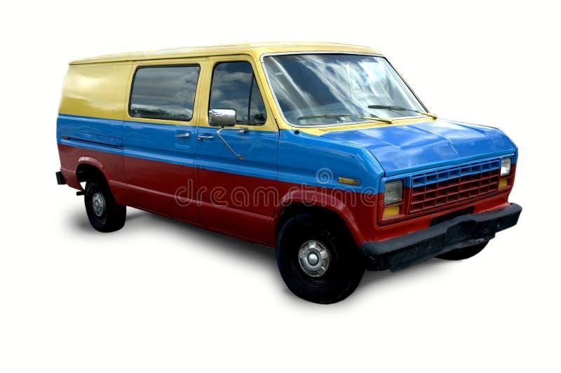 färgrik skåpbil royaltyfria bilder