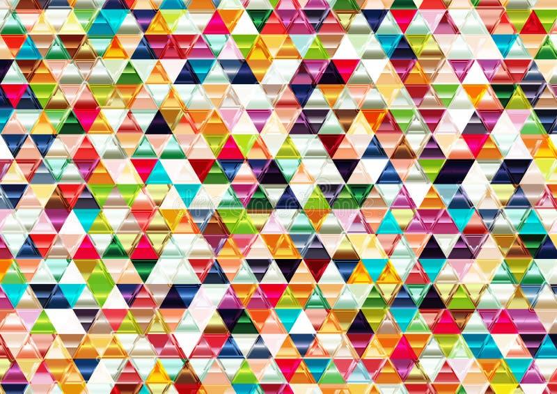 Färgrik skinande triangulär bakgrund. royaltyfri illustrationer