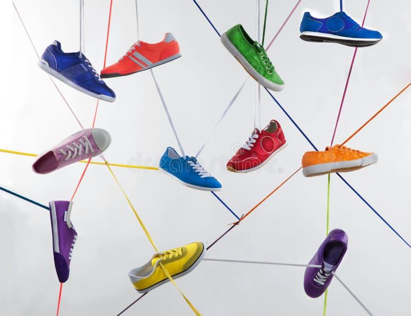 färgrik skosport arkivfoton