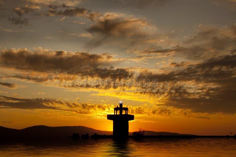 färgrik solnedgång fotografering för bildbyråer