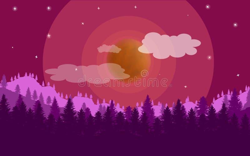 Färgrik solnedgång på en annan planet royaltyfria foton
