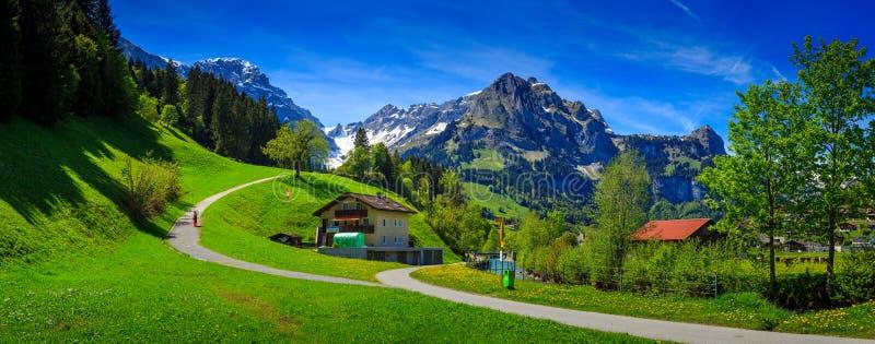 Färgrik sommarsikt av den härliga utomhus- platsen i kantonnollan royaltyfri foto