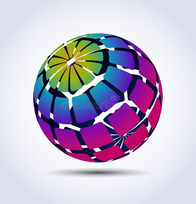 färgrik spherevektor vektor illustrationer