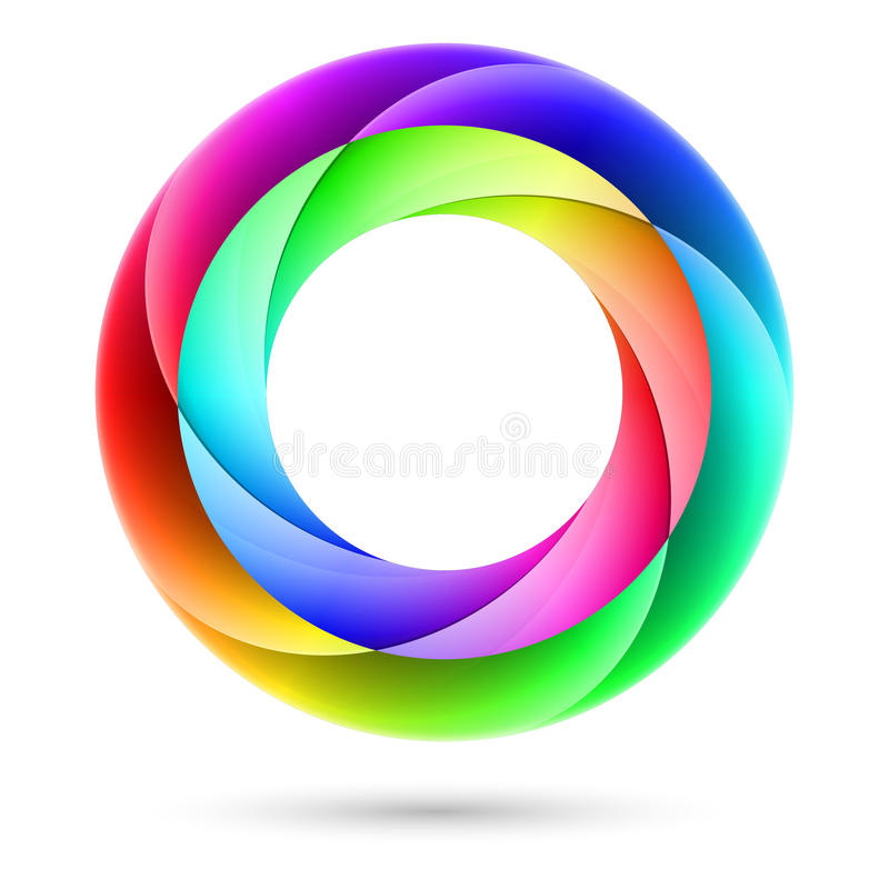 Färgrik spiral cirkel royaltyfri illustrationer