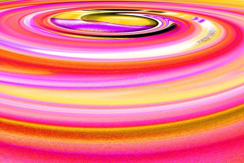 Färgrik spiral med dynamisk rörelse vektor illustrationer