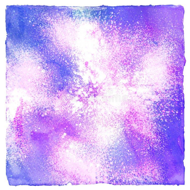 Färgrik sprutmålningsfärg på vit bakgrund stock illustrationer