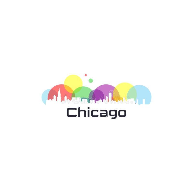 Färgrik stadvektor av USA stock illustrationer