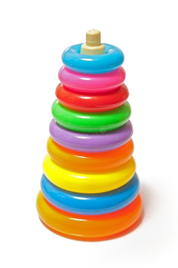 färgrik staplad toy arkivfoto