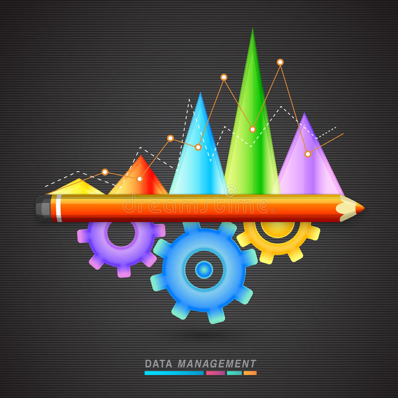 Färgrik statistisk graf för affär vektor illustrationer