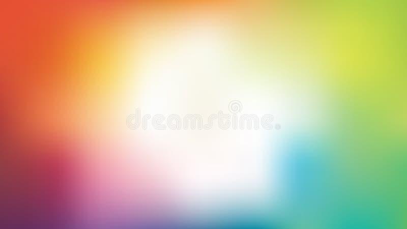 Färgrik suddighetsbakgrund för vektor med den vita mitten royaltyfri illustrationer
