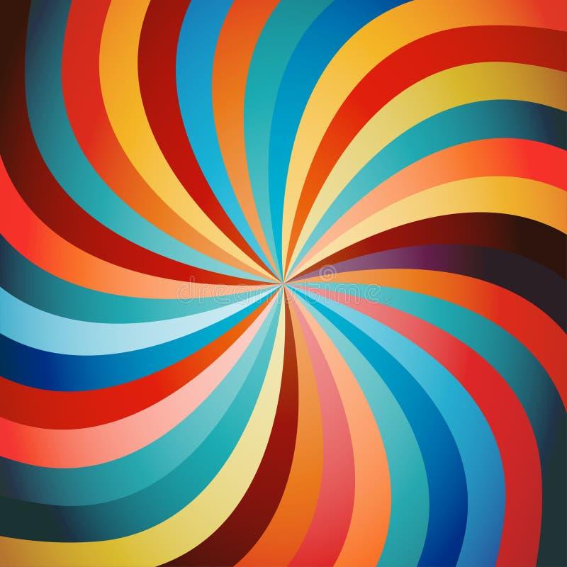färgrik swirl för bakgrund royaltyfri illustrationer