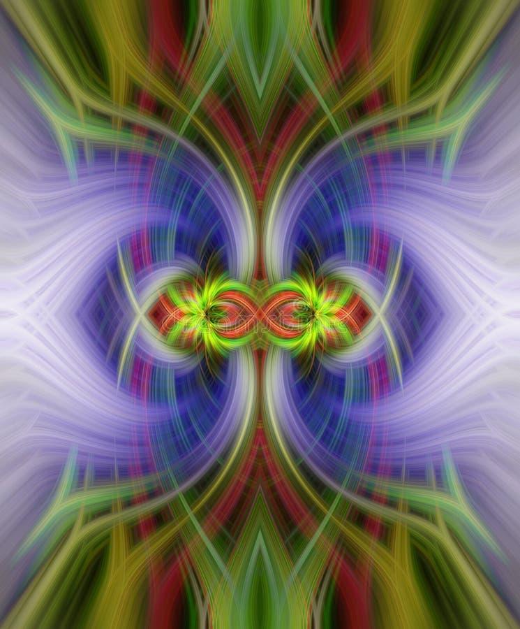 Färgrik symmetrisk abstrakt piruetteffekt för bakgrund royaltyfri fotografi