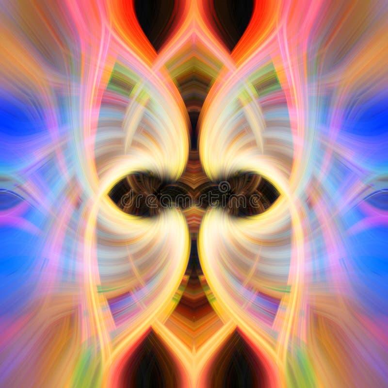 Färgrik symmetrisk abstrakt piruetteffekt för bakgrund royaltyfria bilder