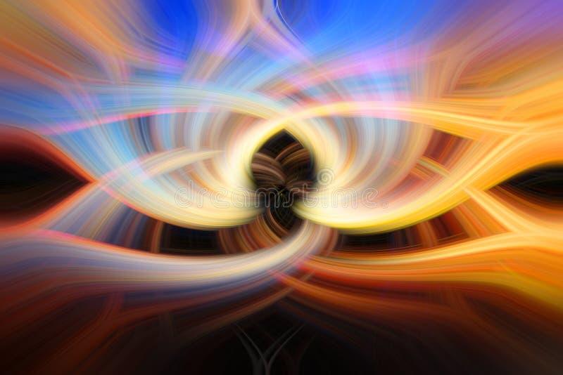 Färgrik symmetrisk abstrakt piruetteffekt för bakgrund royaltyfri foto