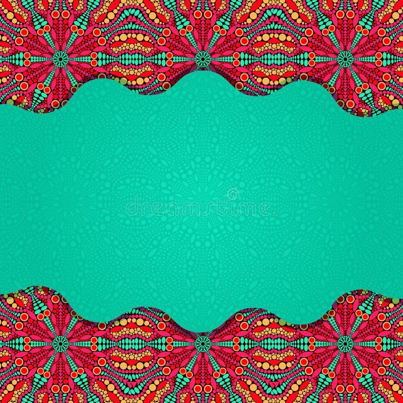 Färgrik symmetrisk ljus broschyr stock illustrationer