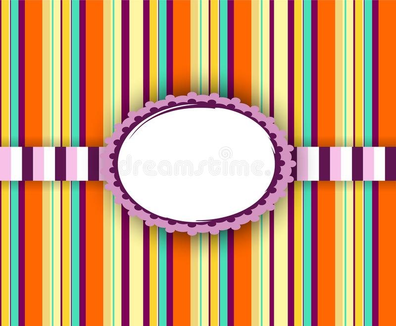 Färgrik tappningram! Retro bandbakgrund vektor illustrationer