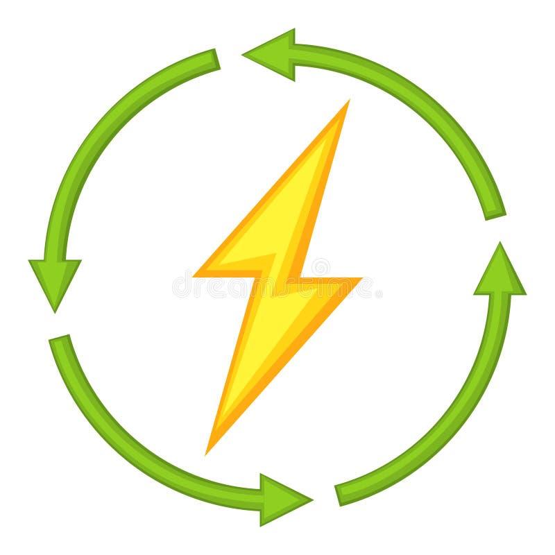 Färgrik tecknad filmförnybara energikällor stock illustrationer