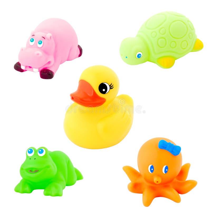 färgrik toy för bad royaltyfria bilder