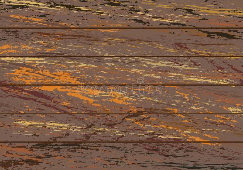 Färgrik trätexturbakgrund Gammal wood tappningstil vektor illustrationer