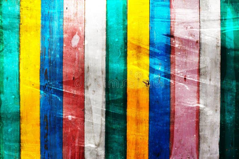 Färgrik träväggbakgrund stock illustrationer