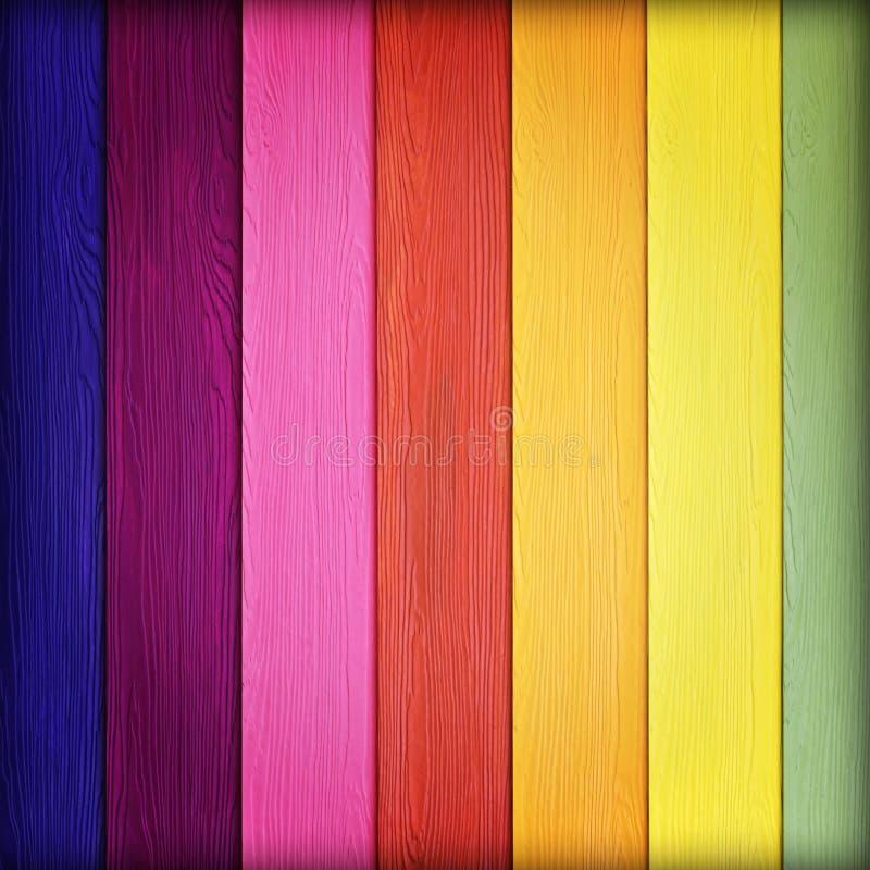 Färgrik träväggbakgrund för textur stock illustrationer
