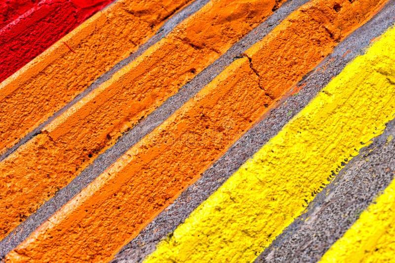 Färgrik trappa arkivfoton