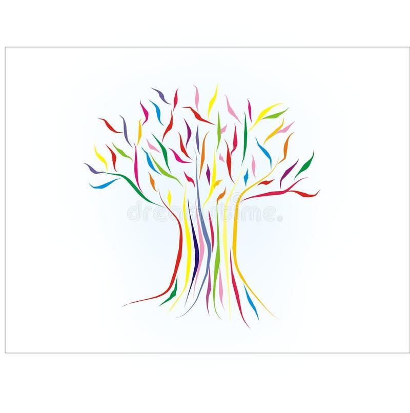färgrik tree vektor illustrationer