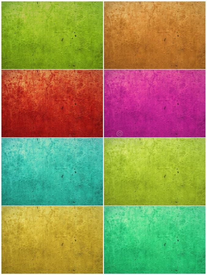 färgrik tvättad målarfärgmurbruk för bakgrund vektor illustrationer