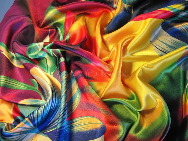 färgrik tygtextur arkivfoto