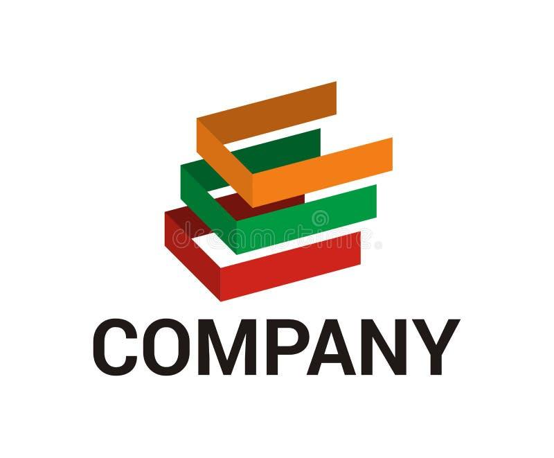 Färgrik typ för bokstav C royaltyfri illustrationer