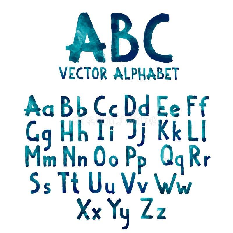 Färgrik typ för vattenfärgaquarellestilsort vektor illustrationer